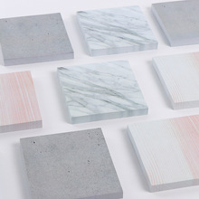 1PCS The Collection of Stone Color Self-Adhesive Square Memo Pad Sticky Notes Post It Bookmark School Office Supply