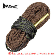 Hunting Gun Barrel Cleaning Rope .17 Cal .177 Cal .17HMR .17WMR & 4.5mm Shotgun Bore Snake Rope for Outdoor Pistol Gun
