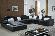 Modern corner sofas u shaped sectional sofa with large corner Black