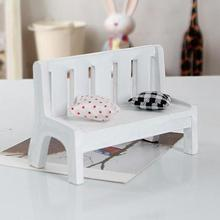 Miniature Dollhouse furniture accessories Wooden Garden Chair Outdoor Chair Park Bench Photo Props Home Decor Gift New Fasion45(China)