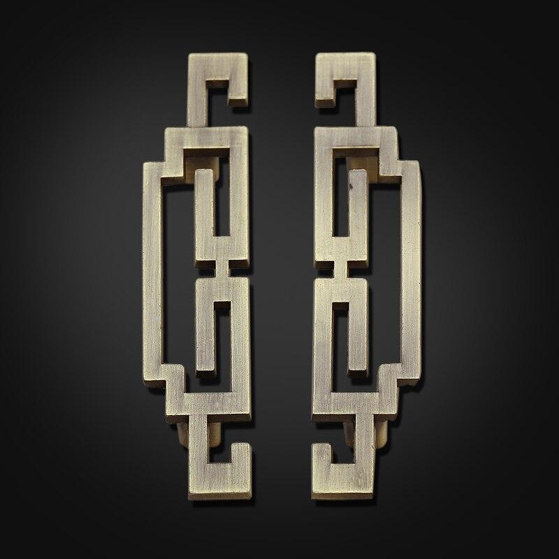 5.6Pair of Chinese style antique symmetry pulls /Drawer Handles/Antique Brass Kitchen Cabinet Door Pull Handles/dresser handle<br><br>Aliexpress
