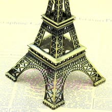 Free Shipping Alloy Model Decor 13cm Vintage Bronze Tone Paris Eiffel Tower Figurine Statue Sell