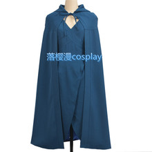 Game of Thrones Daenerys Targaryen Cosplay Costumes Sex Sleeveless Dress Electric Blue Dress Cloak new arrivals