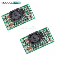 2Pcs Mini DC-DC 12-24V To 5V 3A Step Down Power Supply Module Voltage Buck Converter Adjustable 97.5% 1.8V 2.5V 3.3V 5V 9V 12V