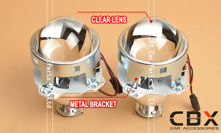 3 inches bi-xenon projector lens metal bracket 5