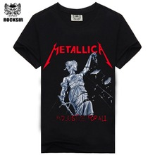 Iron Maiden AC DC Metallica The Beatles Nirvana Guns N Roses Rock 3D Printed Men's T Shirt Hip Hop Famous Brand(China)