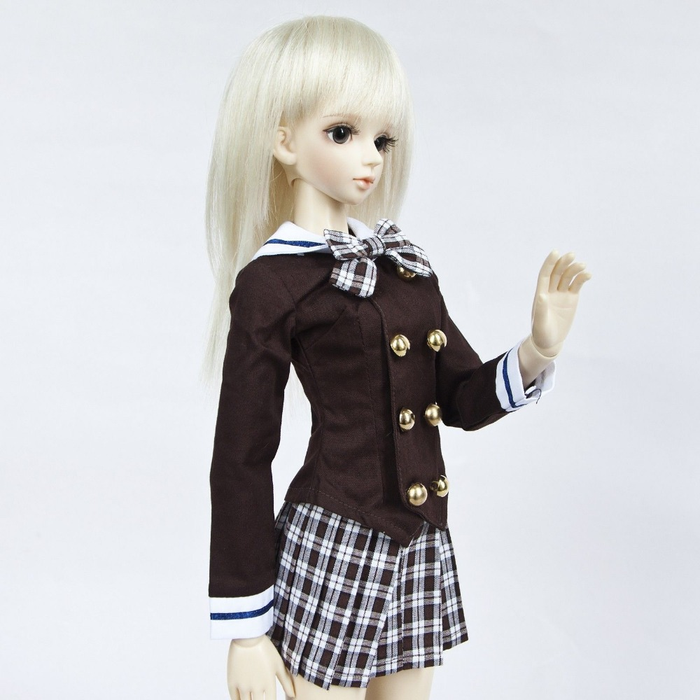 [wamami] 288# Brown Korean School Uniform for 1/4 MSD DOD AOD LUTS BJD Dollfie<br>