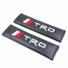 2pcs TRD Logo Car Seat Belt Cover Auto Car Shoulder Pad Car Styling for Toyota Corolla Camry Auris Avensis Rav4 Yaris TRD Sport(China)