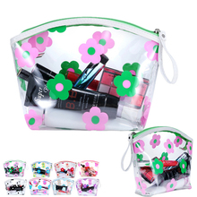 Transparent Cosmetic Bags High Quality PVC Makeup Bags Travel Organizer Necessary Beauty Case Toiletry Bag Bath Wash Make