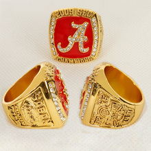 New Sport Jewelry 2009 Alabama Crimson Tide SEC Championship Ring Saban TIDE NCAA Fans Gifts Replica Big Gold Rings