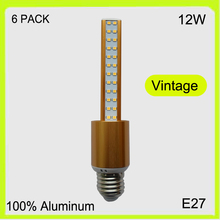 Manufacturer 6 PACK 3 YEAR WARRANTY 12W 96 LED corn bulbs led stick pendant light down light golden replace fluorescent tube(China)