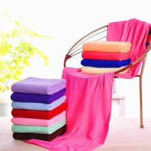 Best Quality Large Size Absorbent Microfiber Fleece Bath Towel Shower Spa Simple 70*140cm(China)