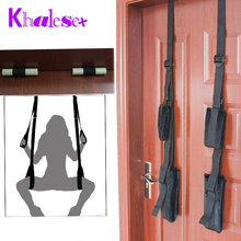 Khalesex Adult Sex Swing Chairs Furniture Love Door Swing Sex Toys for Woman Restraint Fetish Bondage Sex Products for Couples(China)