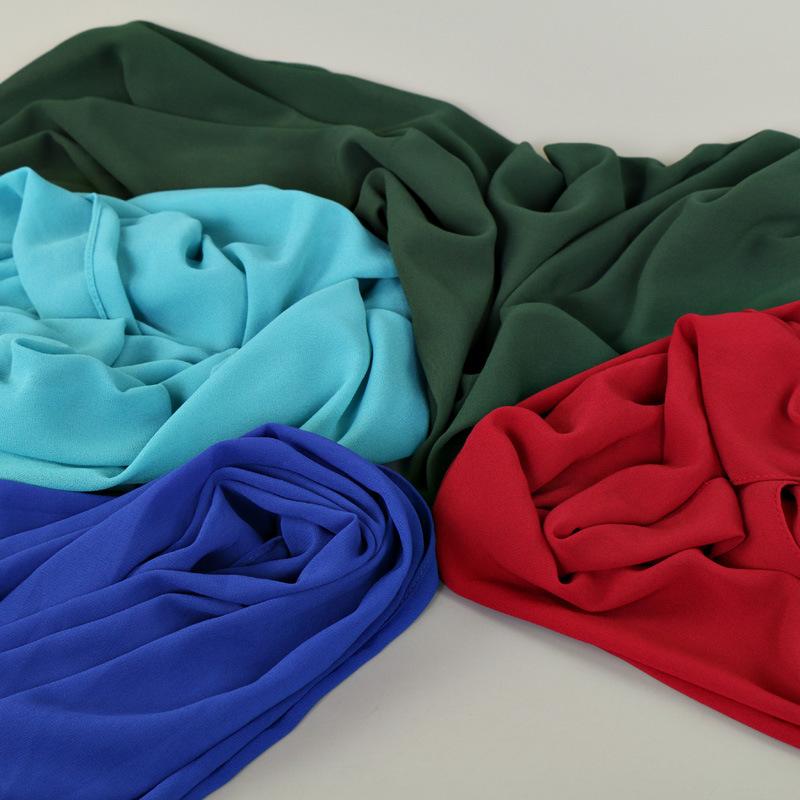 Muslim women chiffon Patchwork headscarf high quality head coverings drape stitching hijab Islam girl's cap big size 14