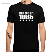 Buy Gresanhevic 2018 MADE IN 1985 New Fashion Man T-Shirt Cotton O Neck Mens Short Sleeve Mens tshirt Male Tops Tees Wholesale for $4.79 in AliExpress store
