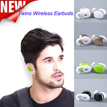 2017 New Arrivals Twins Wireless Bluetooth Stereo Headset In-Ear Earbuds For Android For iOS Free Shipping XP15M26