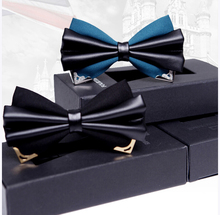 New Free Shipping fashion male MEN'S Leather Men tie double groom wedding marriage male bow gift gifts ON SALE(China)