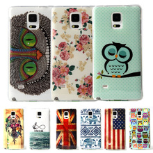 Fashion Owl Tower Flag TPU Silicone Soft Case For Samsung Galaxy Note 4 N9100 N910F Back Skin Cover Cell Phone Protective Bags