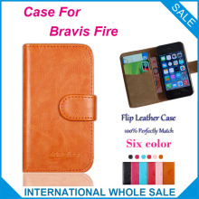 Hot! 2016 Bravis Fire Case High Quality Factory Price Flip Leather Exclusive Cover For Bravis Fire Case tracking number