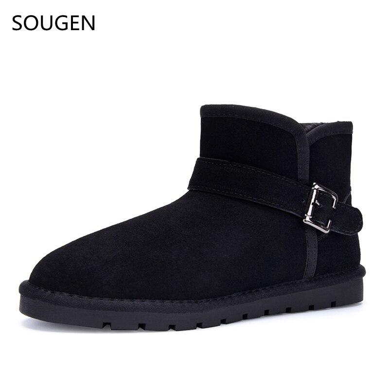 2017 Winter Shoes Men Fur Boots Brown Bot Black Chelsea 2016 Male Social Shoe Leather Genuine Oxford Big Size Snow Fashion<br><br>Aliexpress