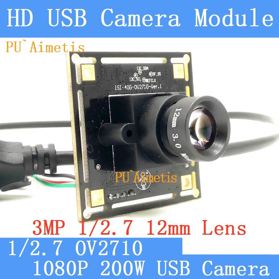 PU`Aimetis  HD Surveillance camera 1080P Full HD MJPEG 30fps High Speed 2MP OV2710 Mini CCTV Android Linux  USB Camera Module<br>