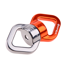 30KN Safety Rappel Device Rotator Rope Swivel Connector Outdoor Rock Climbing Carabiner Abseiling Downhill Climb Equipment(China)