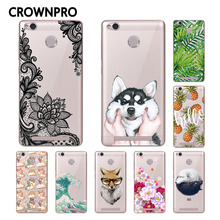 CROWNPRO Xiaomi Redmi 3S Case Cover Phone Painted Back Protective Xiaomi Redmi 3 PRO Case Soft TPU Redmi 3S 3 Pro 3 S Case