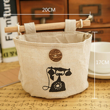 Hot 1 Pc Multi-function Single Pocket Fashion Hanging Phone Makeup Organizer Canvas High Quality Storage Bags Utility Tools 2018(China)