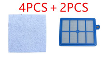 2PCS Hepa Filter H12 H13+4 PCS Motor cotton filter for Philips Electrolux Vacuum Cleaner replacement parts(China)