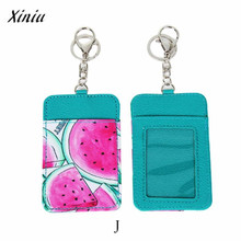 Xiniu Card Holder Case Novelty Winter Fruits Neck Hanging & Key Hook BUS & ID Card Holder Case Pouch BAG Women Holder