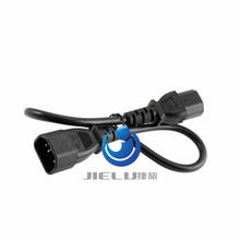 NEW Power Mains Male to Female C13 to C14 CPU PDU Extension Cable COMPUTER CABLE power cord extension cable 0.5M 1.6FT 50cm(China)