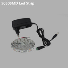 1M3M2M LED Strip 5050SMD Flexible light belt Super bright 12v DC Can be cut Used in car TV wardrobe