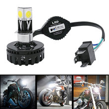 1Pc H4 H6 BA20D LED Motorcycle Headlight Bulb High Low Beam Fog Light Lamp 2000lm For Harley Yamaha Honda Suzuki Kawasaki Ducati