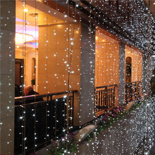10m*2 m LED Twinkle Lighting 640 LED String Fairy Lights Wedding Curtain Background Outdoor Party Christmas Decoration 110V 220V(China)