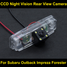 CCD night vision with 4 LED lamps Car Rear View Reverse Camera FOR SUBARU Outback Impreza Forester Car Backuop Reverse Camera(China)