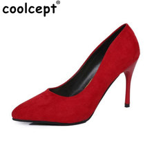 women thin high heel shoes pointed toe suede leather bowknot pumps brand heeled footwear ladies heels shoes size 34-39 WB0277