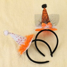 Kids Halloween Hairbands White Orange Blcak Holiday Hair Accessories Boutique Halloween Headband()