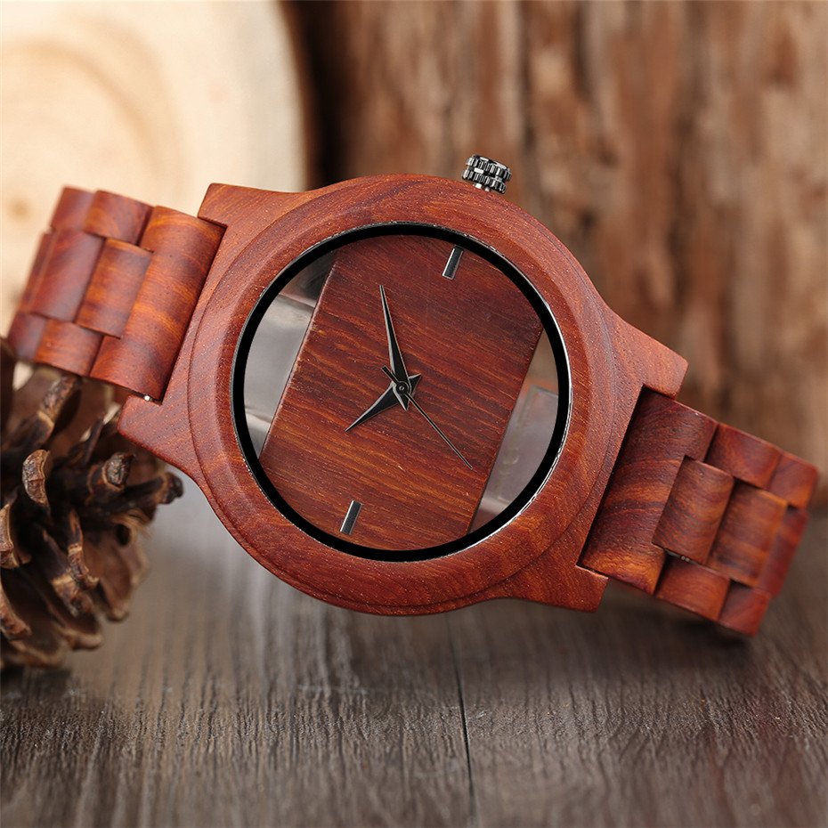 Different color Creative Fashion Casual Sport Simple analog Hollow Bamboo Wooden Men Unique Handmade Wood Quartz Wristwatch+Gift Bags (37)