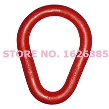 6.3Ton pear link lifting rigging hardware forged alloy steel chain sling connector connecting  steel wire rope part