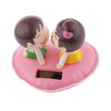 Newest Cute Solar Powered Kissing Baby Bobble Head Dancing Dancer Toys Gag Toys Perfect Christmas Gifts for Adults Children Kid