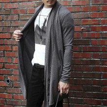 Autumn Sweater Men Casual Korean Slim Men Cardigan Long Sleeve Knitting Cotton Solid Color Slim With Pockets Decration Cardigans
