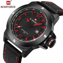 TOP Luxury Brand NAVIFORCE Military Watches Men Quartz Analog Clock Man Leather Sports Watches Army Watch Relogios Masculino(China)