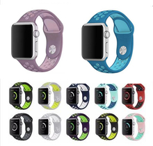 YIFALIAN band for apple watch series 1/2/3 with Light Flexible Breathable silicone strap for sport band official color(China)