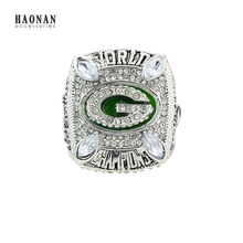 2010 Green Bay Packers Sport Fans World Championship Ring Factory Super Packers Zinc Alloy Silver Plated Custom Replica Jewelry(China)