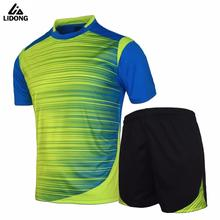 New Soccer Jerseys Men Survetement Football Kits Thai Quality Team Training Painless Custom Sportswear Pockets on Bottoms(China)