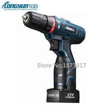 25V Electric Screwdriver Handheld Cordless Screwdriver Lithium Battery Electric Drill Household Electric Screwdriver Power Tools(China)