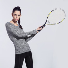 Women's professional fitness Sports Running Yoga Tennis Long Sleeve Shirts quick-drying Flexible Women sports Fitness GYM Shirts