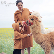 Checcivan Origin Design Spring Mother Daughter Dresses Son Long-sleeve T-shirt with a Hood Girls One-piece Dress for Traveling(China)