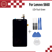 ocolor For Lenovo S660 LCD Display +Touch Screen Digitizer Panel Glass Screen Assembly Replacement Free Shipping - In Stock