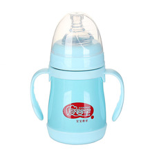 160ML Stainless Steel Heat keep Baby Milk Feeding Bottle Warm-Keep Infant Drinking Bottle Baby Feeder Feeding(China)